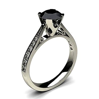 Black Diamond Ring 05 Carat To 2 Carat Black Diamond Solitaire