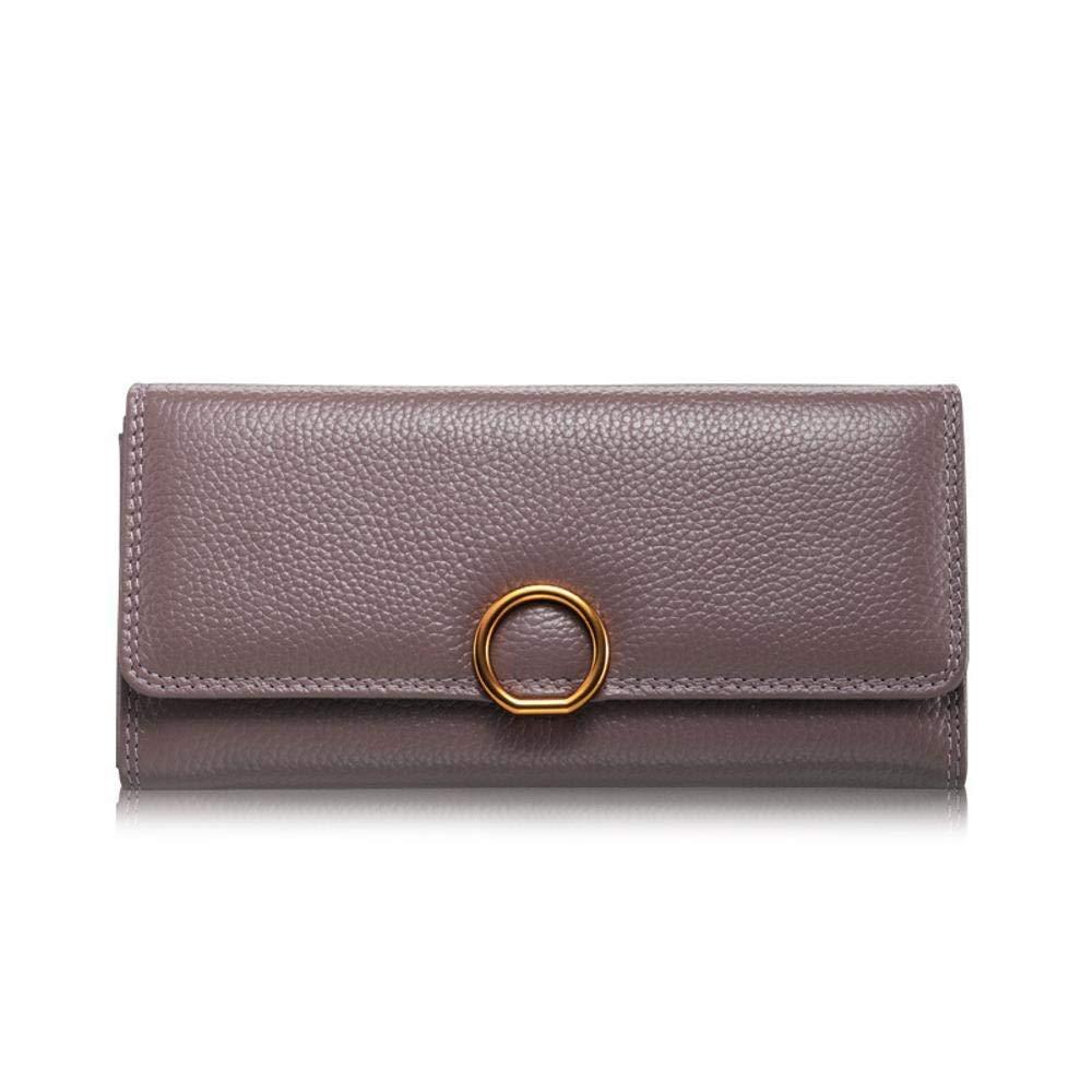 E Women's Wallet Women's Wallet Leather Lady Wallet Large Lady Purse Wallet 20  10  3cm (color   C)