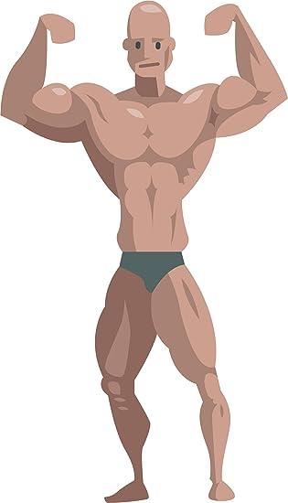 Amazon Com Fit Muscular Body Builder Fitnesss Inspiration Muscle Man Cartoon Emoji Vinyl Sticker 2 Tall Front Double Biceps Automotive