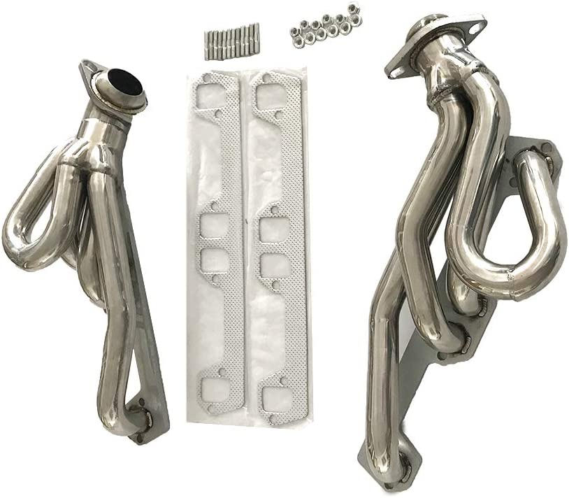 TRIL GEAR 2.00 Manzo Stainless Steel Exhaust Header Fit for Dodge Dakota Ram 1500 2500 3500