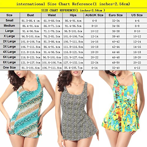 Zhhlinyuan Women's Plus Size Elastic Swimsuit Adult Floral Slimming Swimdress Swimwear Yellow