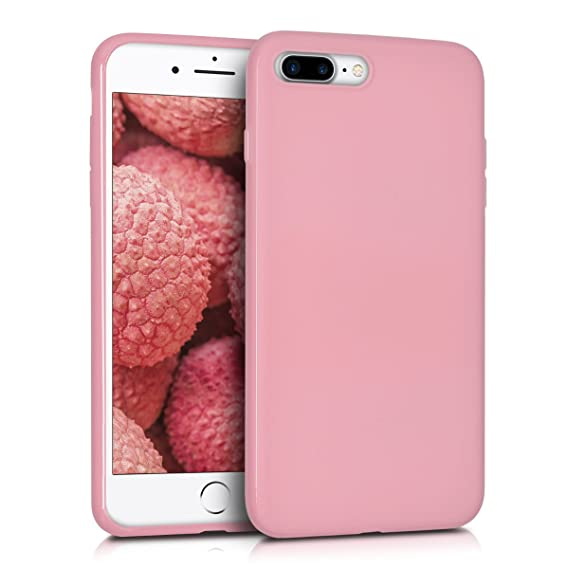 wholesale dealer 6fcfc 2197a kwmobile TPU Silicone Case for Apple iPhone 7 Plus / 8 Plus - Soft Flexible  Shock Absorbent Protective Phone Cover - Light Pink Matte