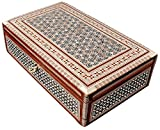 CraftsOfEgypt Jewelry Box Mother of Pearl - Egyptian Decorative Mosaic Jewelry Trinket Box - Convenient Inlaid Box for Jewelry and Other Small Items - Ideal Trinket Box for Gifting a Loved One