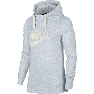 Nike Womens Gym Vintage HBR Hoodie Birch HeatherSail 914414 051 Size Large