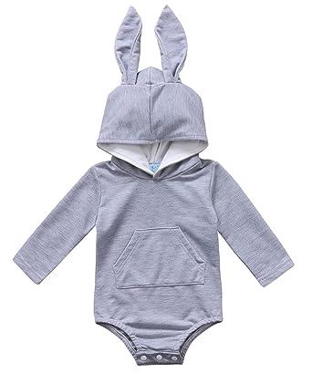 e606de158 Amazon.com  Baby Boys Girls Easter Bunny Long Sleeve Bodysuit ...