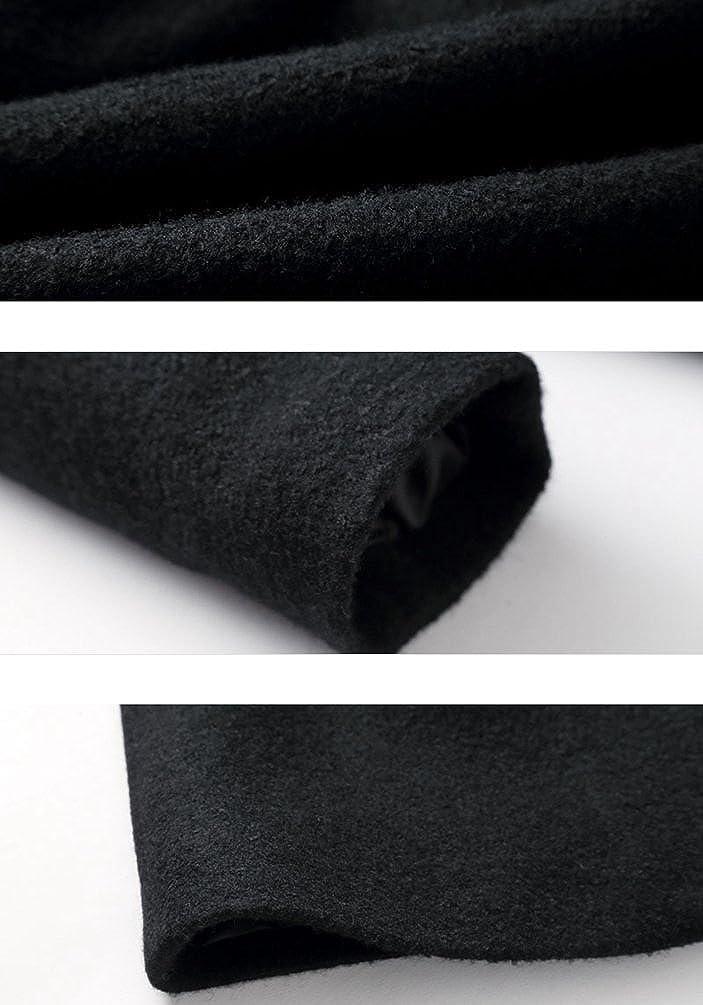 Zhiyuanan M/änner Modische Freizeit Mantel Zipverschluss Vorne Revers Lange /Ärmel M/äntel Slim Fit Herrenmantel Mit Kapuze