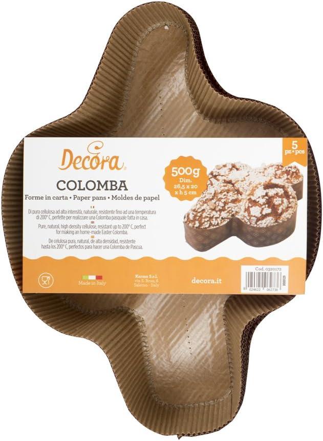 Marron Papier de Pure Cellulose Decora 0320172/Formes colombes 5/pi/èces