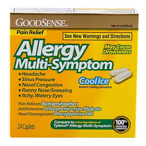 Multisymptom allergy pain relief