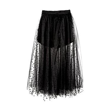 HYHAN Señoras Verano Poncho Nuevo Negro Neto Hilo Vestido de ...