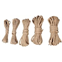 Henneptouw, 10 m, natuurlijk henneptouw, 4 mm, 6 mm, 8 mm, 10 mm, 12 mm, jute touw, hennep touw, knutselsnoer voor doe…