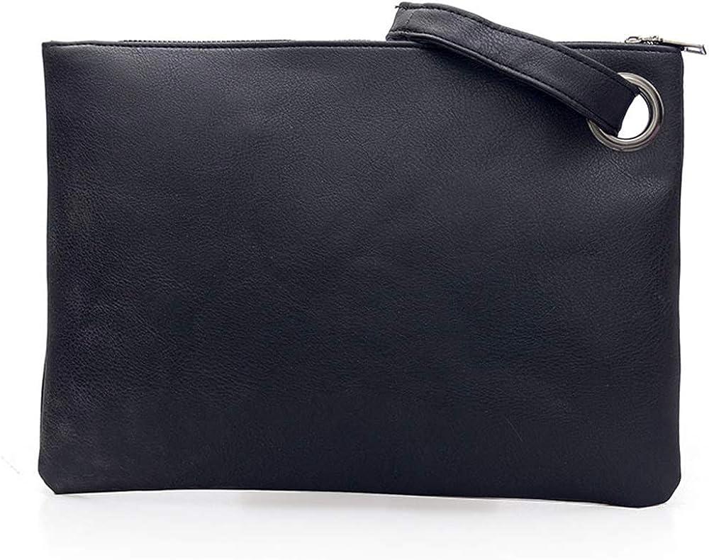 Tanpell Evening Wristlet Handbag Womens Oversized Clutch Bag PU Leather Envelop Purse