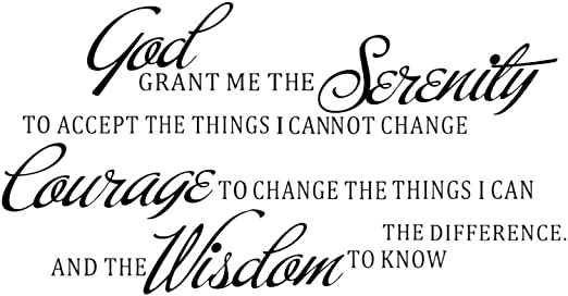 GOD GRANT ME THE SERENITY PRAYER BIBLE Art Quote Vinyl Wall Stickers R9N7