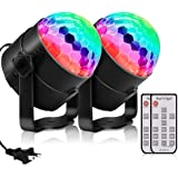 Disco Party Lights, Sound Activated Strobe Light Stage Light with Remote Control, RGB 7 Modes Disco Ball Light, Strobe Lamp f