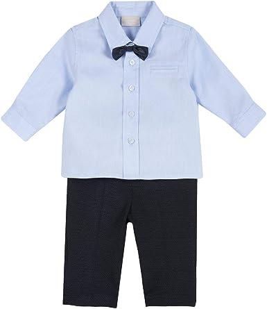 Chicco - Conjunto de camisa, pajarita y pantalón para niño ...
