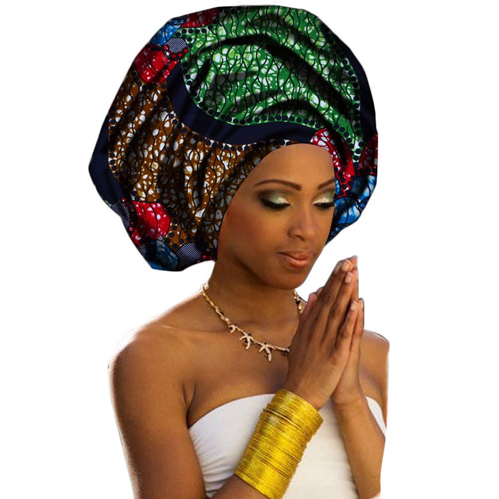 African Head Wraps 71''x20'' African Wax Print Head Scarf Tie Women