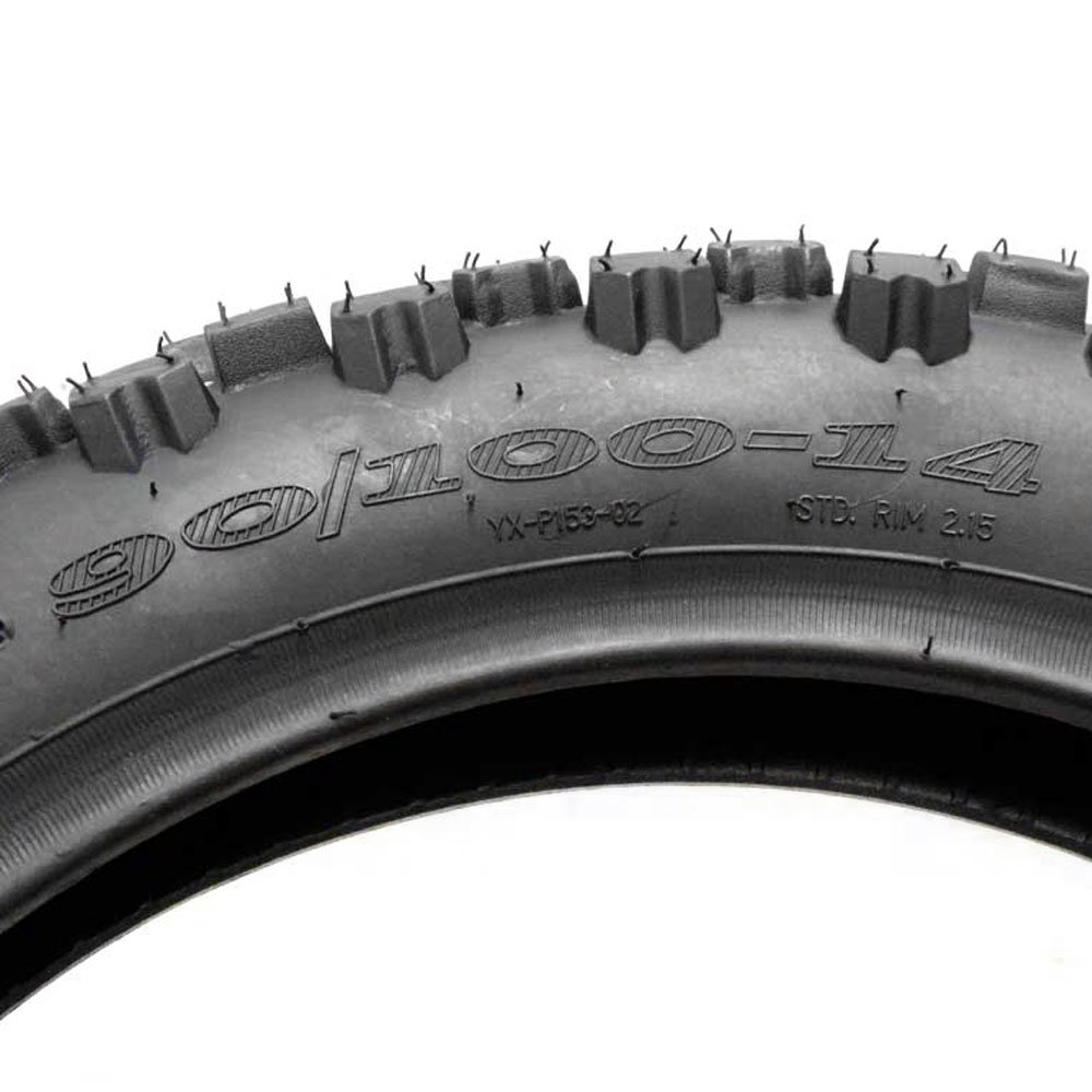 COMBO: Dirt Bike TIRE Size 90/100-14 + INNER TUBE Size 90/100-14 TR4 Valve Stem by MMG (Image #3)
