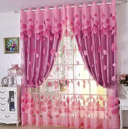 Curtains simple double curtain fabric modern bedroom blackout ...