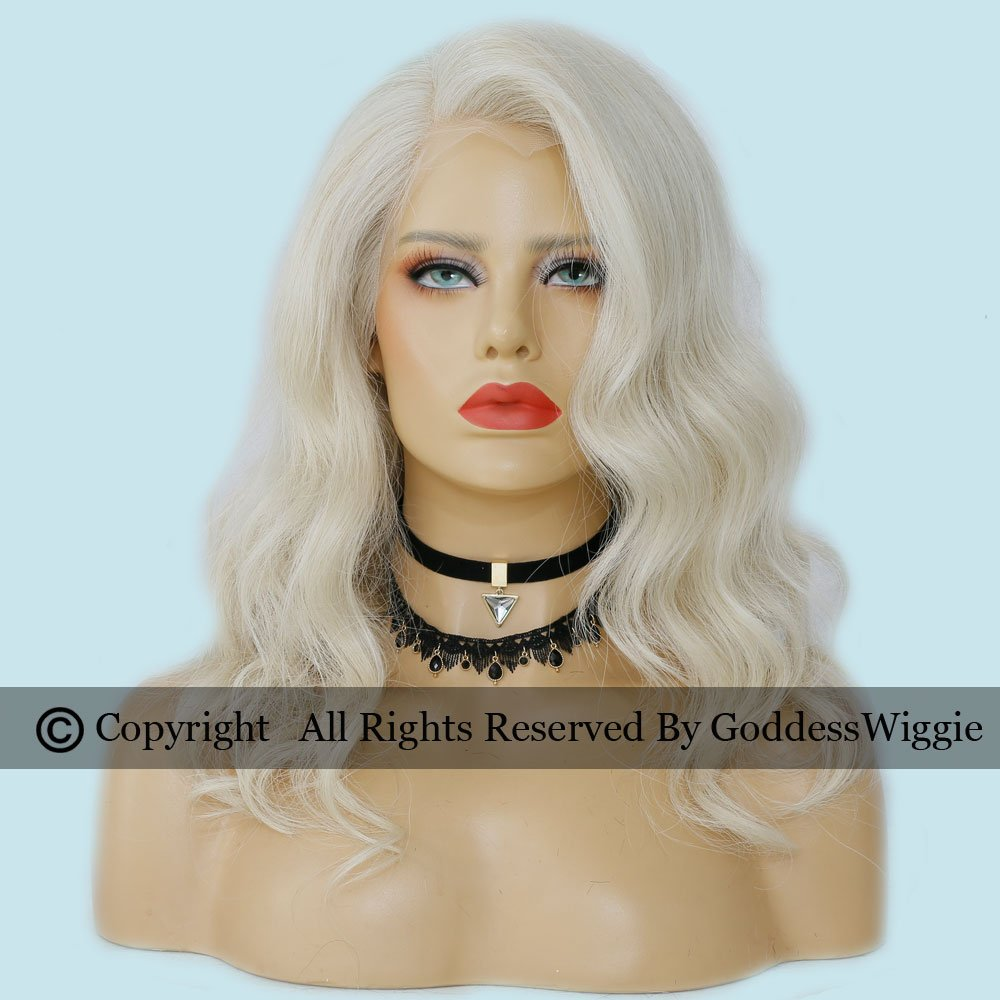 7A Glueless Blonde Body Wavy Lace Front Wigs Human Hair Wigs With Baby Hair For Women (14inch 150density)