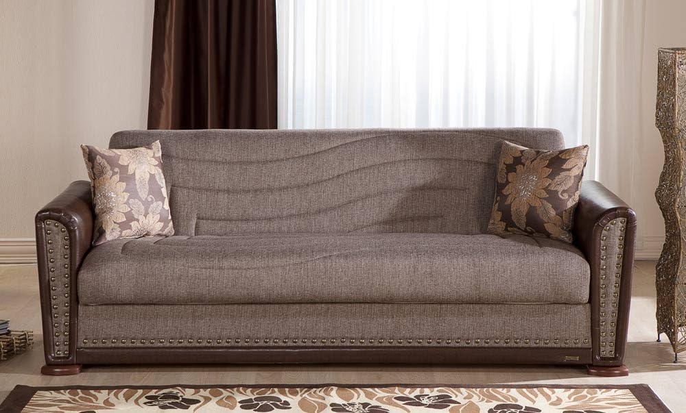 Istikbal Alfa Sofa Bed in Redeyef Brown