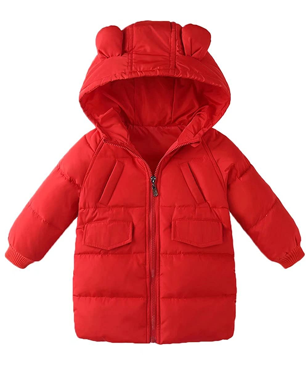 Gxia Little Girls Boys Simple Small Ears Fashion Down Jacket