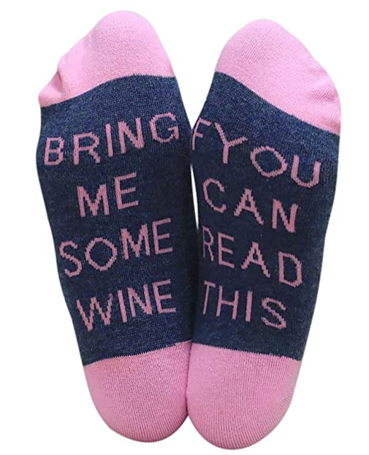 Chalier Si Puedes Leer Esto Calcetines Tráeme Calcetines de Vino Calcetines de Cerveza Novedad Divertida Diciendo Calcetines para Hombres y Mujeres: ...