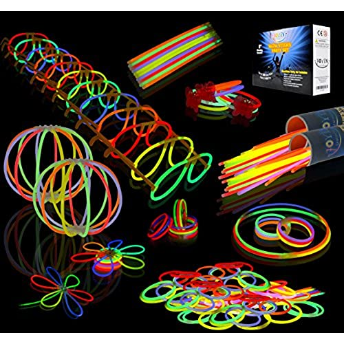 Joyin Toy 200 8 Glowsticks Glow Sticks Bracelets Necklaces Party Favors Pack 7 Colors Total 456 PCs
