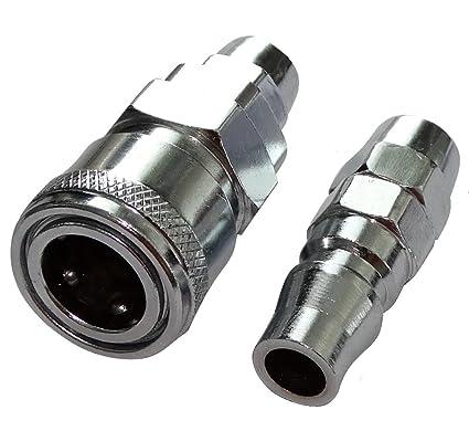 AERZETIX: Juego de conectores de conexion rapidos macho hembra de aire comprimido compresor para manguera