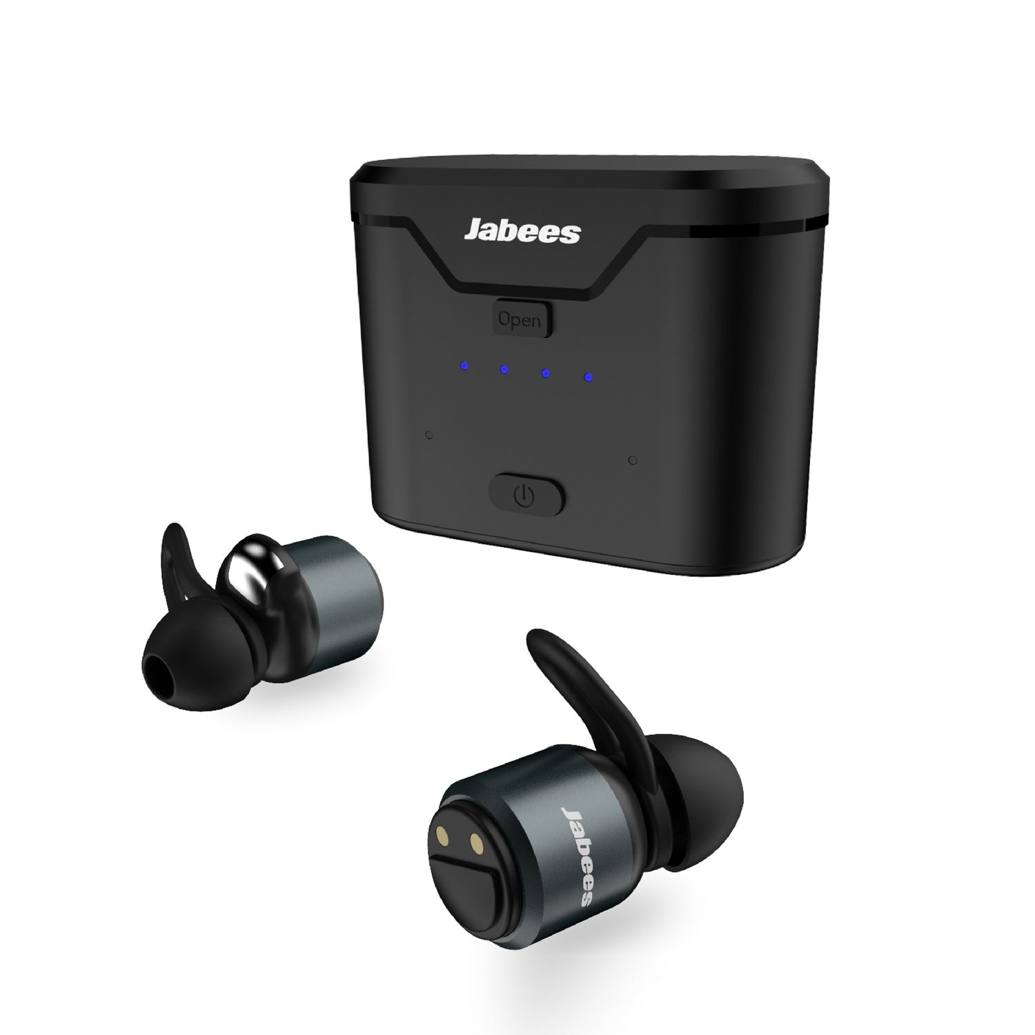 26e1000120b Jabees True Wireless Earbuds with Charging Case BTwins, Mini Wireless  Bluetooth TWS Earbuds with Mic, Sweat Proof Fitness Earphones, Aluminum  Contruction, ...