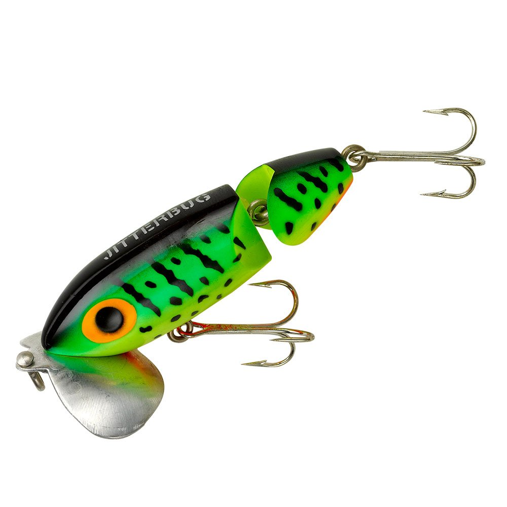 Arbogast jointed jitterbug fishing lure fire tiger 3 1 for Jitterbug fishing lure