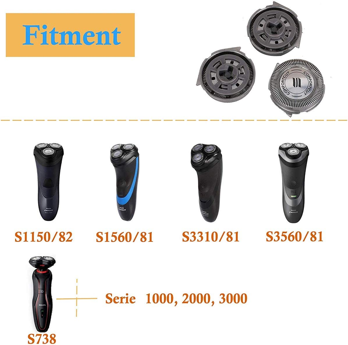Poweka SH30/52 - Cabezal de repuesto para afeitadora Philips ...