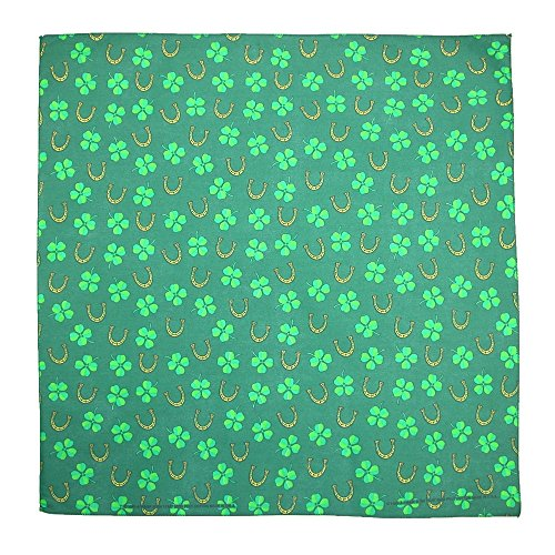 CTM Luck of the Irish St. Patricks Day Holiday Bandana, Green