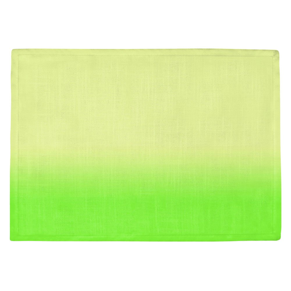 DIANOCHEキッチンPlaceマットby ArtistスージーKUNZELMAN – Ombreライムグリーン Set of 4 Placemats PM-SusieKunzelmanOmbreLimeGreen2 Set of 4 Placemats  B01N3LCO3U