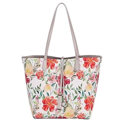 David Jones Reversible Shopper Tote SILVER  Handbags  Amazon.com 4efb9279d6