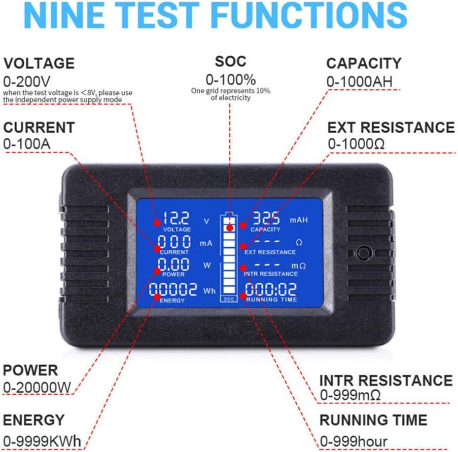 LCD Display Digital Strom Spannung Solar Power Meter Multimeter Amperemeter Voltmeter Batteriemonitor Meter
