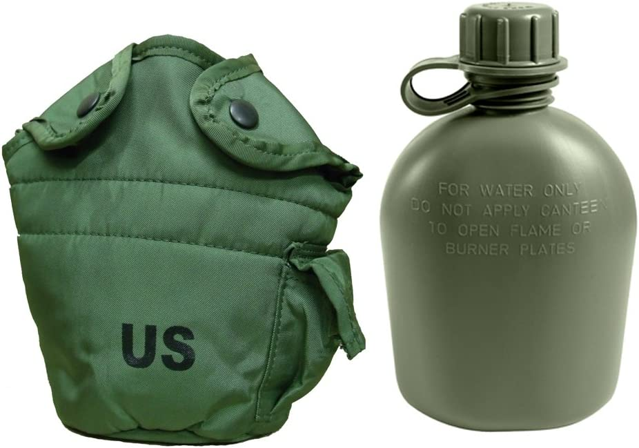 US Military Army Issue 1 QT QUART CANTEEN COVER Pouch w Alice Clips OD