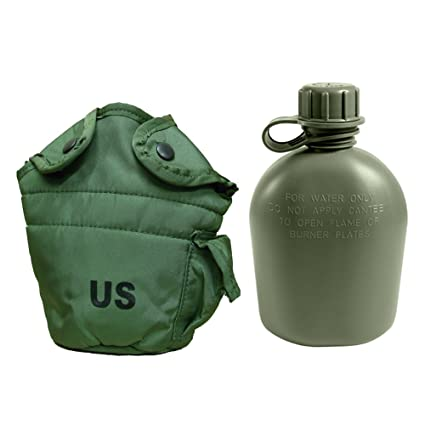 cd188c0ccf8 Military Outdoor Clothing Previously Issued U.S. G.I. 1 Quart Olive Drab Military  Canteen Nylon Cover with Never