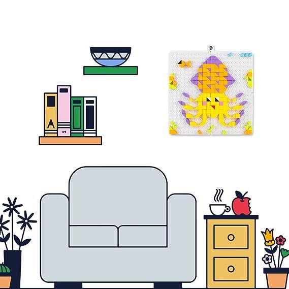 Bloques Construccion Mosaico Puzzles Infantiles Set Conjunto Niño Juguetes DIY Criaturas Acuáticas Colorido de Regalo para Niños Niñas 4 5 6 Años+ 420 ...