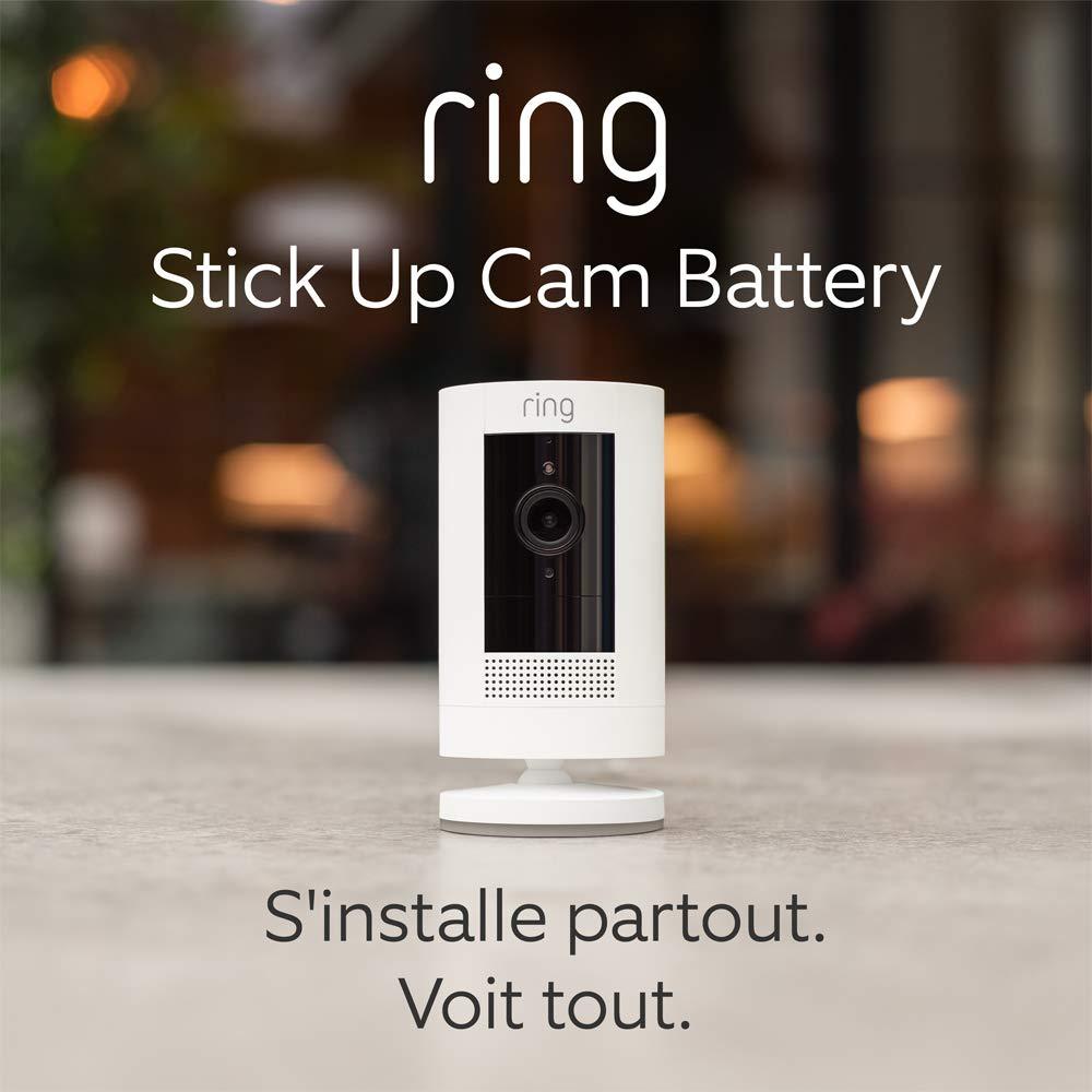 Nouvelle Ring Stick Up Cam Battery, Caméra de surveillance HD avec système...
