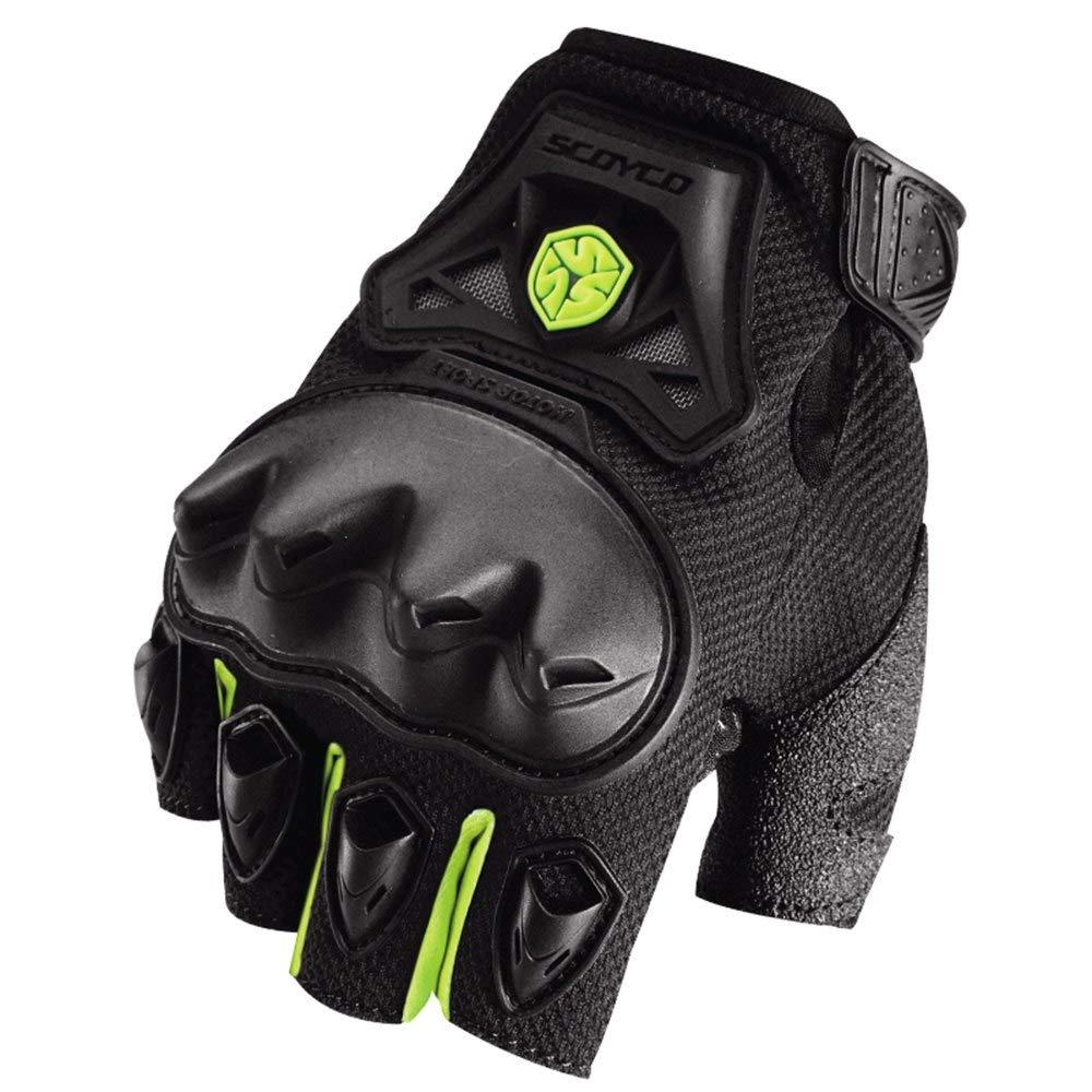 GLOVESCOA Motorrad Handschuhe Motocross Off-Road Racing Handschuhe Moto Halbfinger Handschuhe Sommer Motorrad Handschuhe Motorrad Schutz