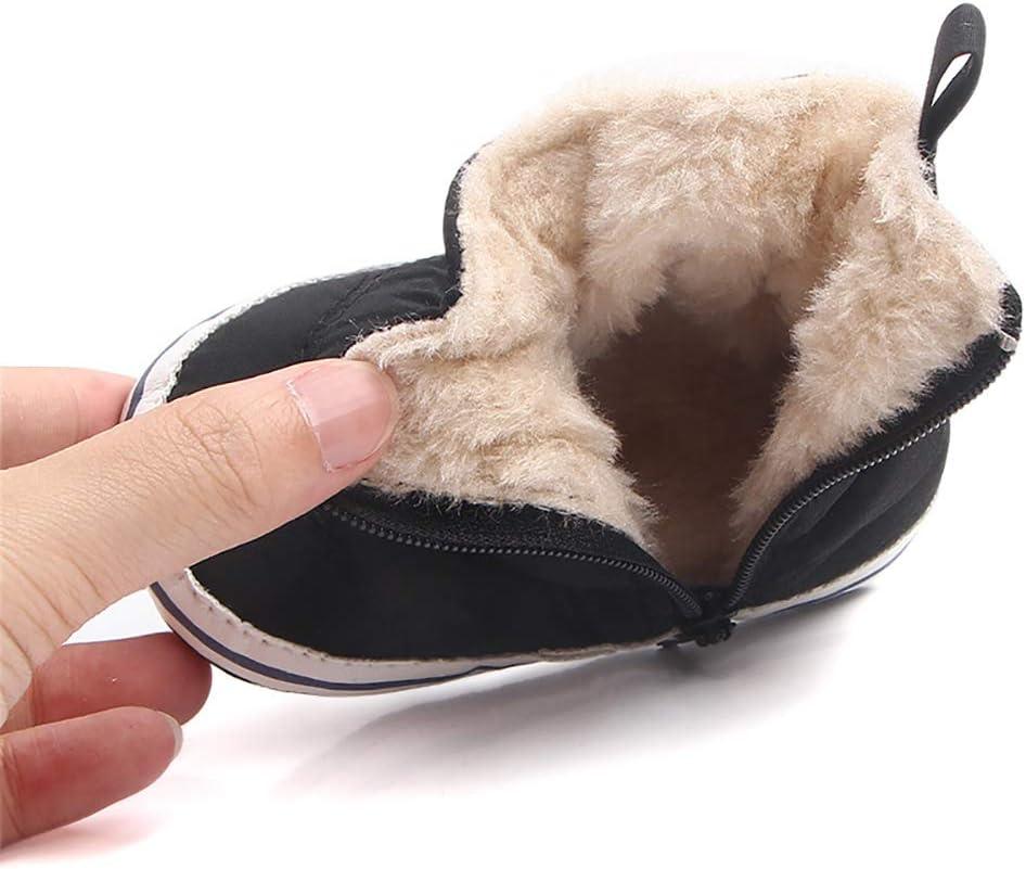 Tukistore Unisex Beb/é ni/ña ni/ño Botas de Nieve Invierno Caliente Suave Suela Cuna Zapatos Blandas Botas
