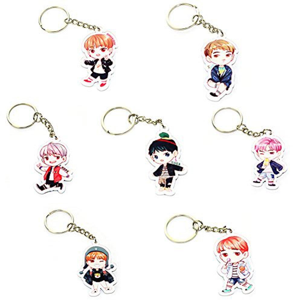 BTS Arcylic Key Chain JUNGKOOK JIN JIMIN RAPMONSTER J-HOPE V SUGA Key Ring Pendant