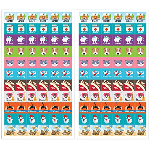 Amazon.com: Planner Activity Stickers - Cute Designs, Homework2 ...
