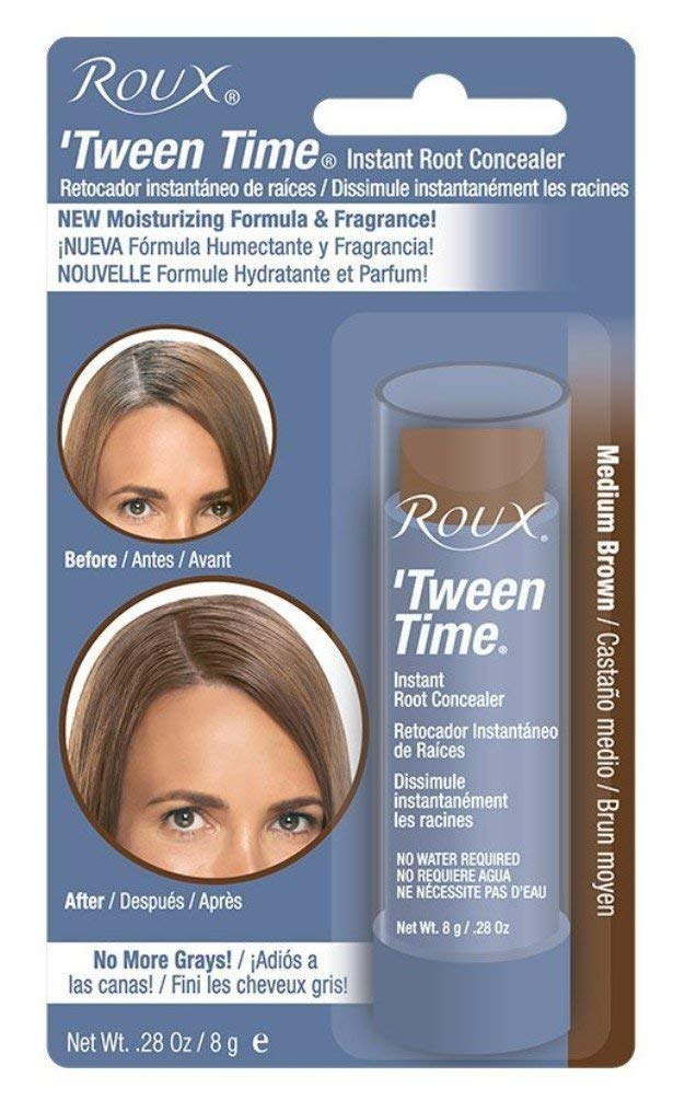 Roux Temporary Haircolor Touch-Up Stick Med Brown