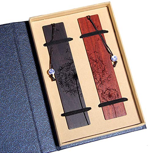 Handmade wooden bookmark gift set