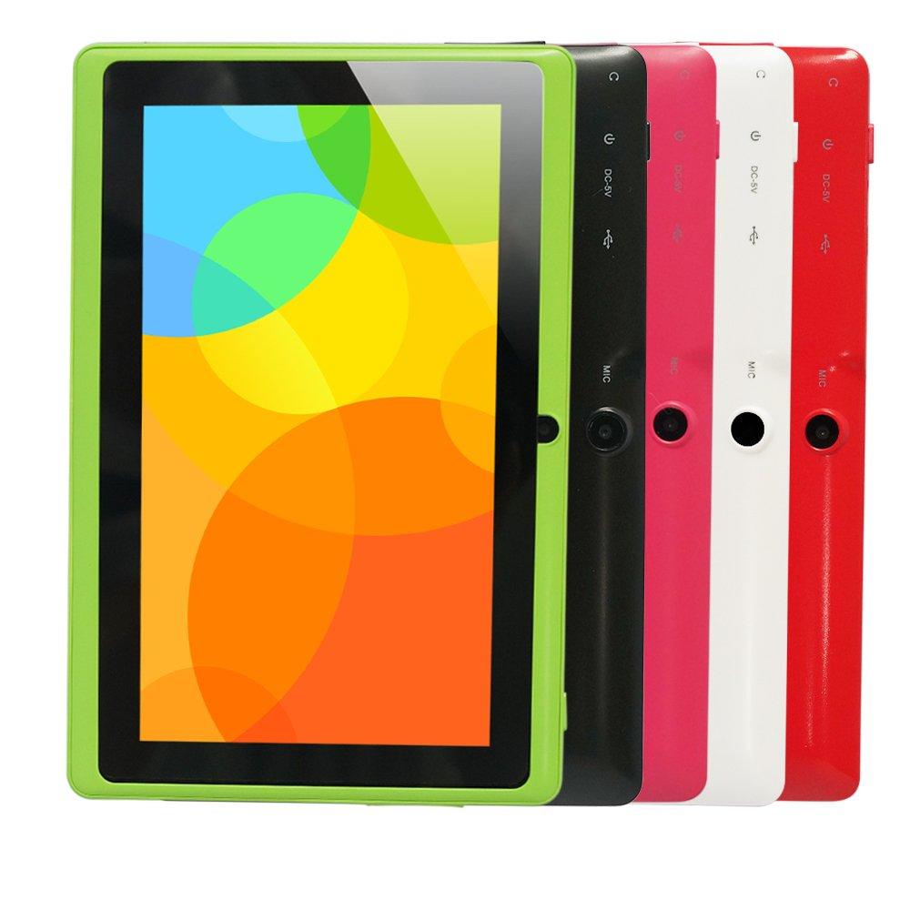 Yuntab Q88 7 Inch Allwinner A33,1.5 Ghz Quad Core Google Android Tablet PC,512MB+8G,Dual Camera,WiFi,Mini USB,G-Sensor,Support SD/MMC/TF Card(Green) by Yuntab