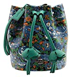 COACH Floral Print Coated Canvas Petal Wristlet in Blue Multi, F57600