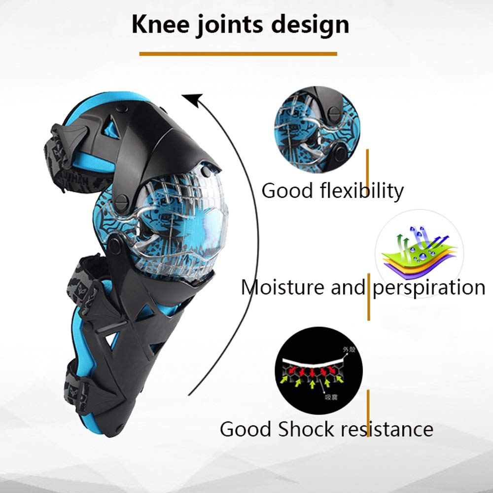 TY BEI Kneepad Kneepad - Fashion Motorcycle Knee Pads Motocross Knee PC Brace high-end Protective Gears Kneepad Protectors @@ (Color : Yellow) by TY BEI (Image #2)