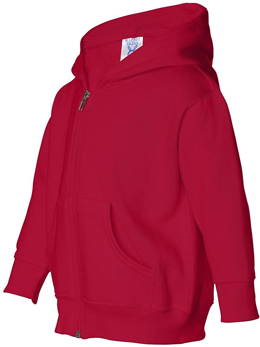 Rabbit Skins Unisex-child Hooded Full Zip Sweatshirt 3346