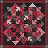 Easy Quilt Kit Offset Diamond!! Red, Black, White/King