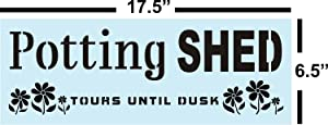 Garden Potting Shed Stencil for Painting Wood Signs, Reusable, Sturdy, Psalms Bible Verse